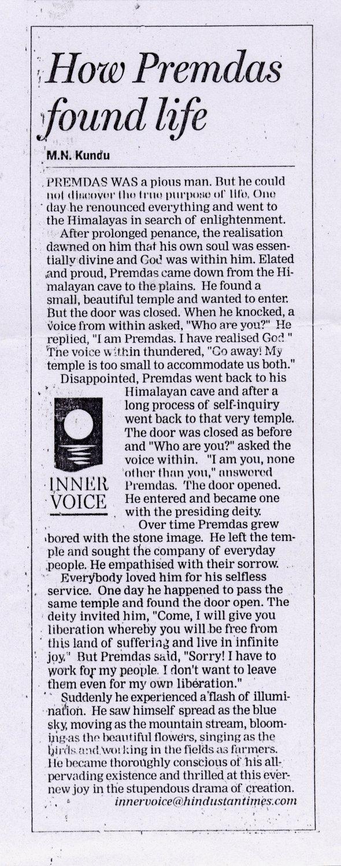 How Premdas found life